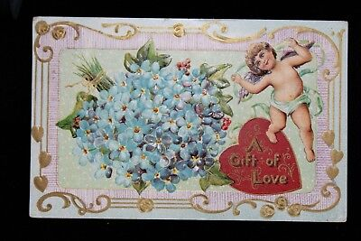 Antique 1911 Valentine Bouquet of Flowers Postcard FREE SHIPPING!