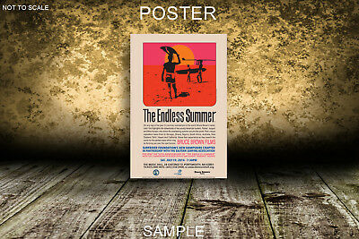 THE ENDLESS SUMMER V1 MOVIE POSTER A2,A1,61x91cm(24x36inch)