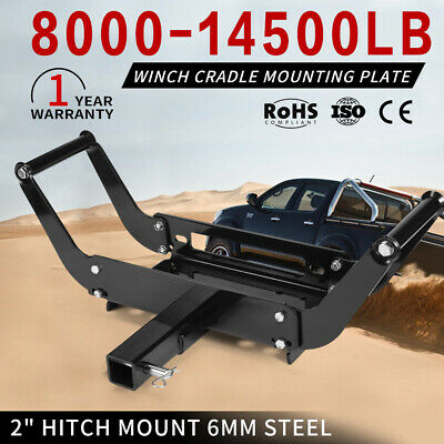 New Winch Cradle Mounting Plate 6MM Mount Bracket Bull Bar Truck Trailer 4WD