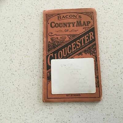 Antique Map - Bacon's County Map Of Gloucester & Parts Of Adjoining Counties