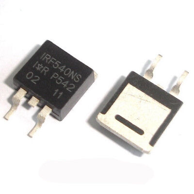 50 Pcs IRF540NS TO-263 IRF540 F540NS SMD N-Channel Power Mosfet