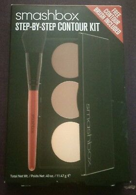 SMASHBOX Step-By-Step CONTOUR Kit With Brush BNIB Low Worldwide Shipping