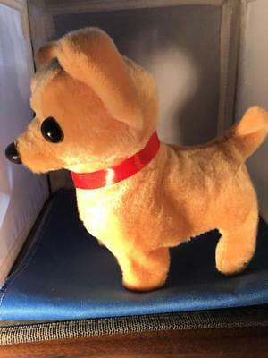 Toy dog chihuahua walks wags barks life-like puppy-size fuzzy fun realistic