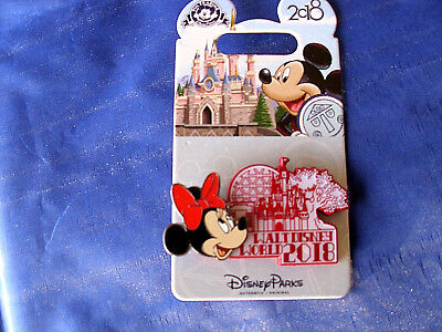 Disney * WDW DATED 2018 - MINNIE * New on Card Trading Pin