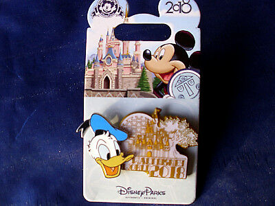 Disney * WDW DATED 2018 - DONALD * New on Card Trading Pin