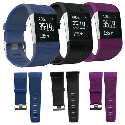 Large Silicone Rubber Replacement Wristband Strap For Fitbit Surge w/Tools Kit