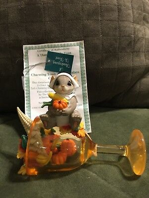 """Charming Tails Toast of the Holidays Hamilton Collection """"A Thanksgiving Toast"""""""