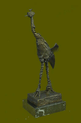 Handcrafted Hot Cast Collectible Bird Animal Ostrich by Picasso Bronze Figure