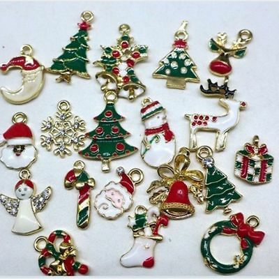 Charms Supplies Christmas Decoration Alloy 19pcs/Set Metal Tree Ornament