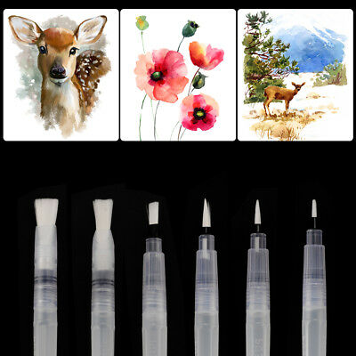6pcs Water Brush Pen for Water Painting Calligraphy Beginner Drawing Tool AC1138