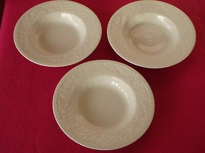 3 x Johnson Bros Franciscan Country Fayre 23cm Rimmed Soup / Pasta Bowls - Exc