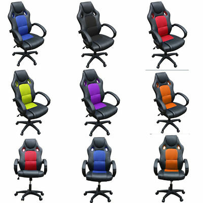 Adjustable Sports Racing Gaming Chair Executive Computer Seat Office Armchair
