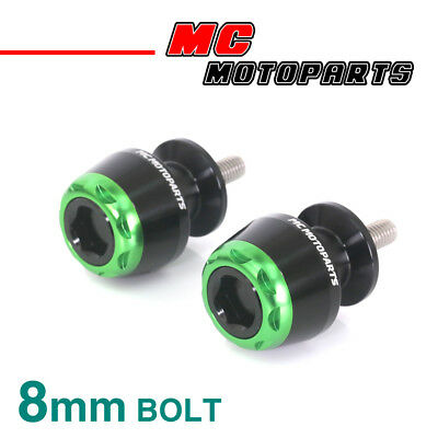 MSHINE Green CNC Swingarm Spools Sliders For Kawasaki Ninja 1000 2014-2017 14 15