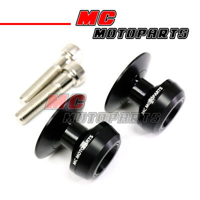 Black Twall Racing M10 Swingarm Spools Sliders For Kawasaki Z750 Z750S 05-12 13