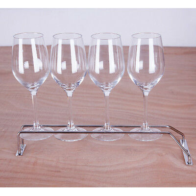 Stainless Steel Plating Wine Rack Glass Holder Hanging Bar Hanger Shelf AU 35CM
