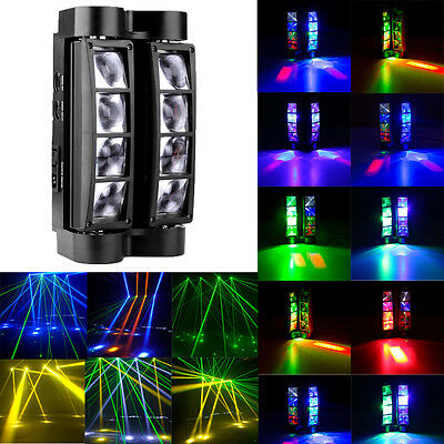 8x10W RGBW 4in1 LED Spider Beam Moving Head Stage Lighting Disco DJ Party Lights