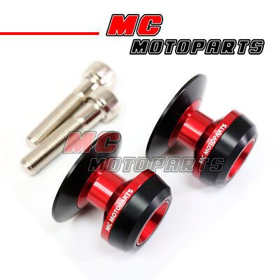 Red Twall Racing M10 Swingarm Spools Sliders For Kawasaki Z750 Z750S 05-12 13