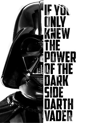 Star Wars Darth Vader Dark Side A4 Poster Print