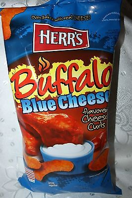 HERR'S BUFFALO BLUE CHEESE Flavored Cheese Curls 198.5g bag
