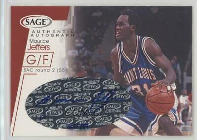 2001 Sage Autographs Red #A21 Maurice Jeffers St. Louis Bombers Auto Rookie Card