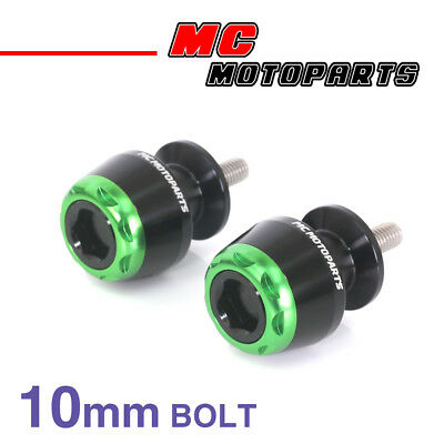 MSHINE Green CNC Swingarm Spools Sliders For Kawasaki VERSYS 650 2008-2014 08 09
