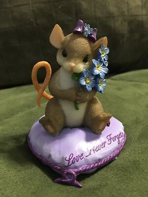 """Charming Tails """"Love Never Forgets"""" of the Power of Purple Collection. Limited"""