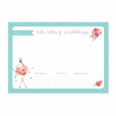 Wrendale Designs Flamingo A4 Desk Planner Stationery Gift 52 pages Organiser