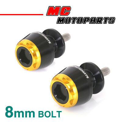 MSHINE Gold CNC Swingarm Spools Sliders For Kawasaki ZX-6R 636 2013-2017 13 14