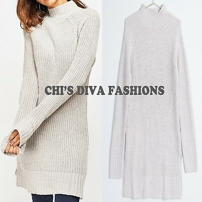 Stunning 'ELIN' Knitted Longline Jumper Tunic/Dress by GINA TRICOT