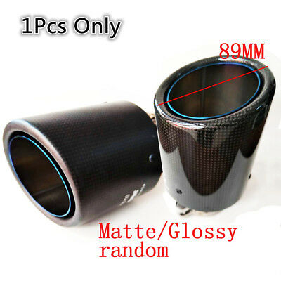 Durable Glossy Stainless Steel+Carbon Fiber 150mm Lengthen Car Exhaust Tip Pipe