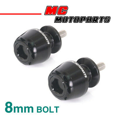 MSHINE Black CNC Swingarm Spools Sliders For Kawasaki ZX-6R 636 2013-2017 13 14
