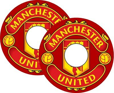 Wheelchair Spoke Guards Graphics Stickers Decals Any Football Team MU