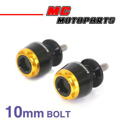 MSHINE Gold CNC Swingarm Spools Sliders For Kawasaki VERSYS 650 2008-2014 08 09