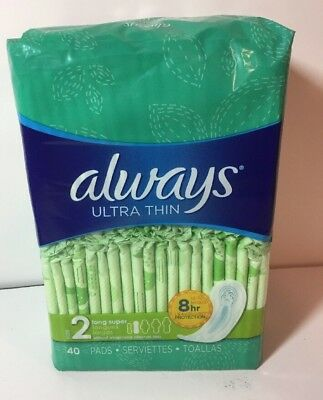 Always Ultra Thin Pads Super Long 40/Pack 32494PK