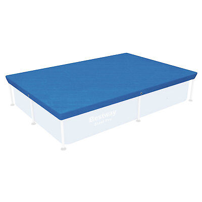 """Bestway 87"""" x 59"""" Rectangle Above Ground Swimming Pool Cover for Steel Pro Pool"""