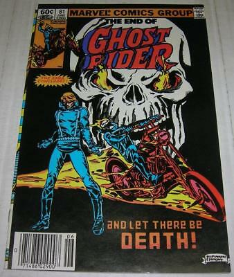 GHOST RIDER #81 (Marvel 1983) Death of GHOST RIDER (FN/VF) RARE LAST ISSUE