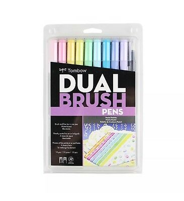 Great Price! TOMBOW ABT Dual Brush Pen Art Markers 10-Pack, Pastel Set