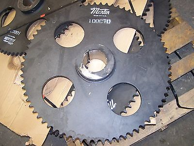 "Martin 100C70 Sprocket No. 100 Roller Chain 70 Tooth C Hub 4-1/8"" Bore New"
