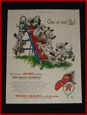 May 22, 1954 Texaco Fire Chief Gasoline Ad ~ Dalmations on Slide