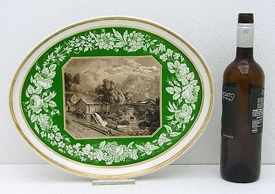 Large Hand Painted KPM / Royal Berlin Ceramic Tray Scenic Landscape c1830