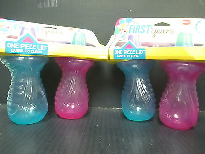 (2) THE FIRST YEARS SIMPLE SIPPY - 6M+ BLUE/PINK - 9oz EACH - BPA FREE - RC 2280