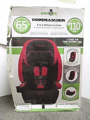 Secure Commander 3-In-1 Forward-Facing Deluxe Car Seat - Black/red Nib - Rc 4648