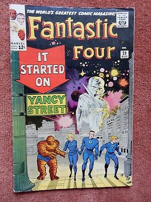 The Fantastic Four #29 (Watcher) - Aug. 1964 - Silver Age - Marvel - Very Nice!