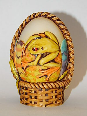 Harmony Kingdom Artst Neil Eyre Designs Easter Egg Basket Toad Frog Delight LE50