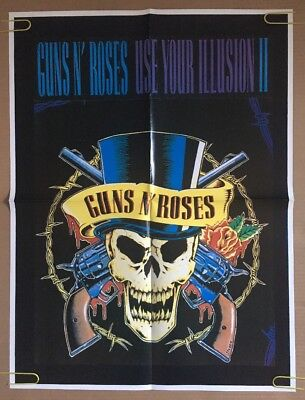Guns N Roses Vintage Poster Use Your Illusion  II Pin-up 1990's Music Promo Ad