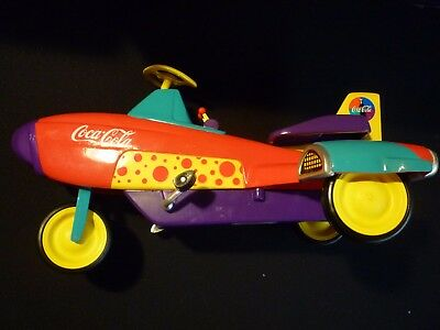 COCA COLA Die Cast Miniature Pedal Rocket