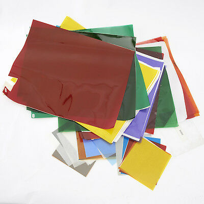 LEE/ROSCO GEL FILTERS VARIOUS COLOURS SIZES ND, COLOURED, COLOUR CORRECTION etc.