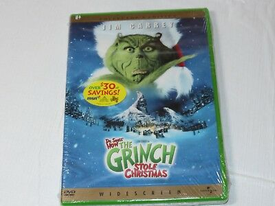 Dr. Suess' How the Grinch Stole Christmas DVD 2001 Widescreen NEW