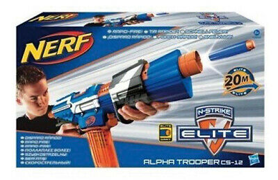 Hasbro Nerf A3698 N-Strike Elite Alpha Trooper Cs-12 New and in Original Box