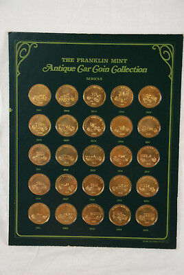 Sunco Series 2 Franklin Mint Collection of Antique Car Coins Bronze complete
